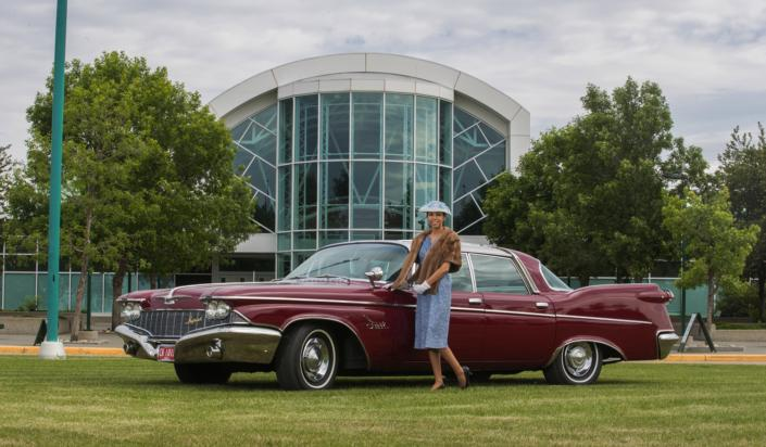 1960 Imperial in front of the Reynolds-Alberta Museum